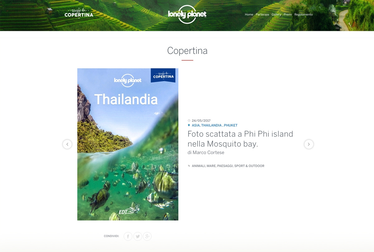 Lonely Planet - Website contest viaggi da Copertina
